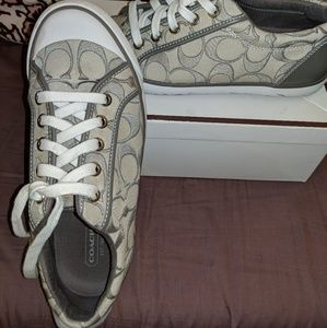 Lightly Worn Gray Coach Sneakers